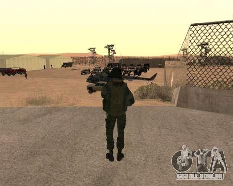 Forças especiais da Federação russa para GTA San Andreas por diante tela