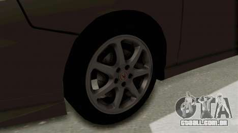 Acura Integra Fast N Furious para GTA San Andreas vista traseira