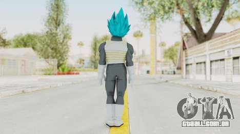 Dragon Ball Xenoverse Vegeta SSGSS para GTA San Andreas terceira tela