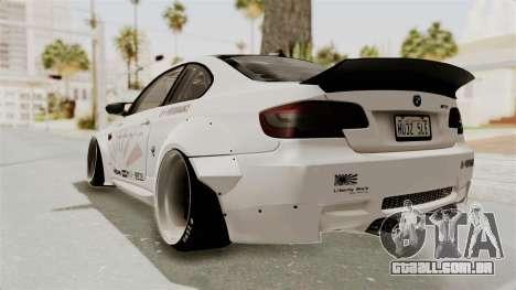 BMW M3 E92 Liberty Walk LB Performance para GTA San Andreas esquerda vista