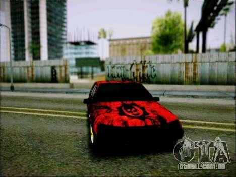 2109 Agressivo para GTA San Andreas traseira esquerda vista