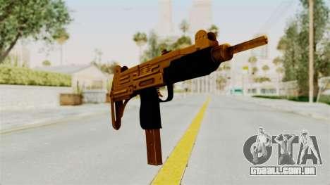 Uzi Gold para GTA San Andreas segunda tela