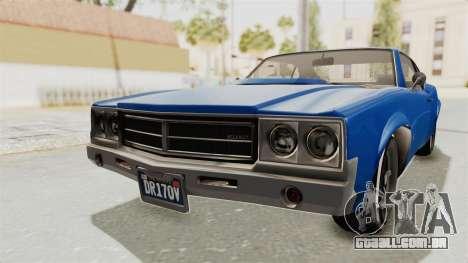 GTA 5 Declasse Sabre GT2 A para GTA San Andreas traseira esquerda vista