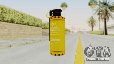 Tear Gas Gold para GTA San Andreas segunda tela