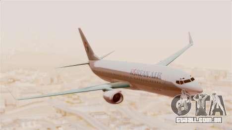 Boeing 737-800 Korean Air para GTA San Andreas traseira esquerda vista