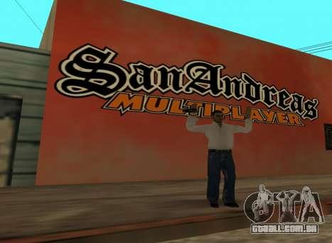 San Andreas Multiplayer Graffiti para GTA San Andreas segunda tela