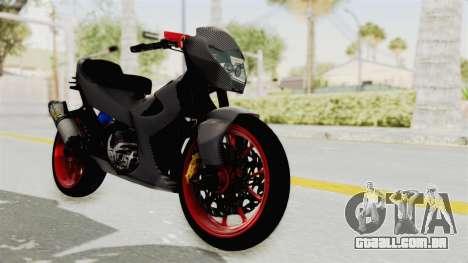 Satria FU 150 Modif FU 250 Superbike para GTA San Andreas vista direita
