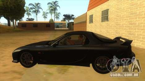 Mazda RX7 S Spirit R para GTA San Andreas esquerda vista