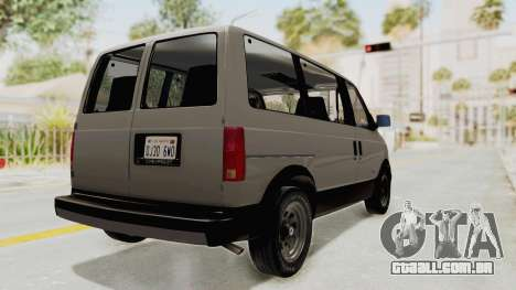 Chevrolet Astro 1988 para GTA San Andreas traseira esquerda vista