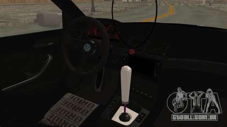BMW 3 Series E46 para GTA San Andreas vista interior