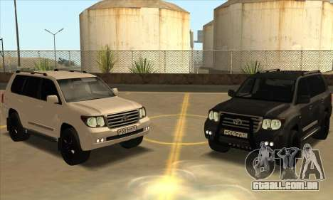 Toyota Land-Cruiser 200 para vista lateral GTA San Andreas