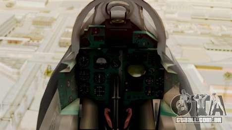 O MIG-21 BIS da Força Aérea Argentina para GTA San Andreas vista direita