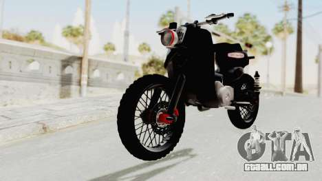 Honda Super Cub Modif Moge para GTA San Andreas vista direita