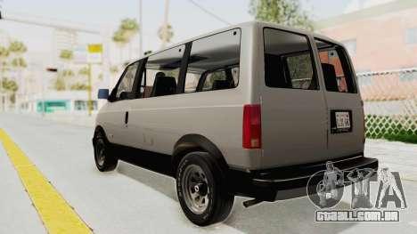 Chevrolet Astro 1988 para GTA San Andreas esquerda vista