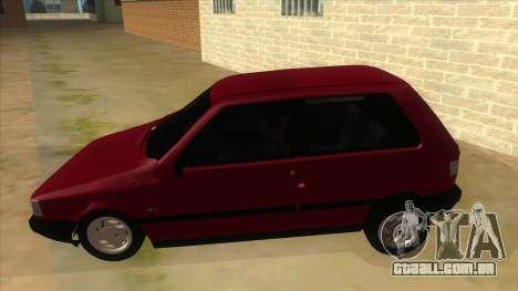 Fiat Uno S para GTA San Andreas esquerda vista