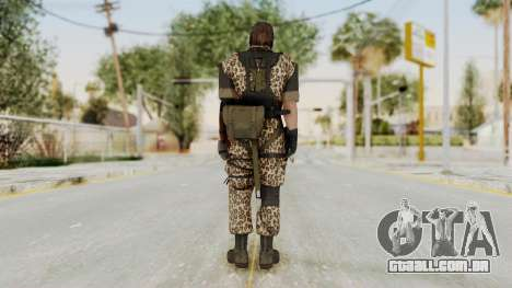 MGSV The Phantom Pain Venom Snake Animals para GTA San Andreas terceira tela