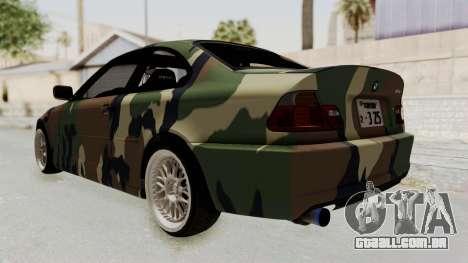 BMW 3 Series E46 para GTA San Andreas vista direita