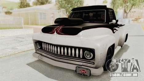 GTA 5 Slamvan Race PJ1 para GTA San Andreas traseira esquerda vista