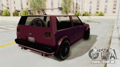 New Club Modification para GTA San Andreas traseira esquerda vista