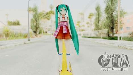 Project Diva F2nd - Hatsune Miku (Shrine Maiden) para GTA San Andreas segunda tela