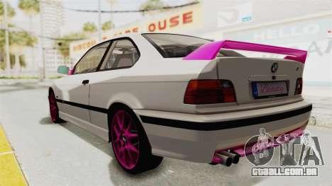 BMW M3 E36 Beauty para GTA San Andreas esquerda vista