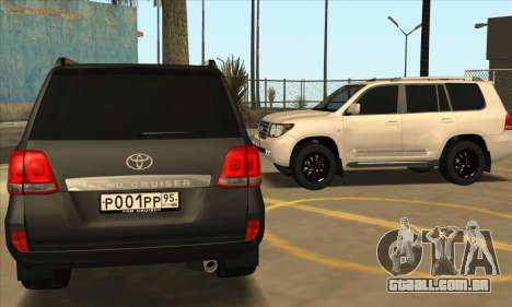 Toyota Land-Cruiser 200 para GTA San Andreas vista superior