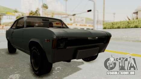 Chevrolet Nova 1969 StreetStyle para GTA San Andreas vista direita