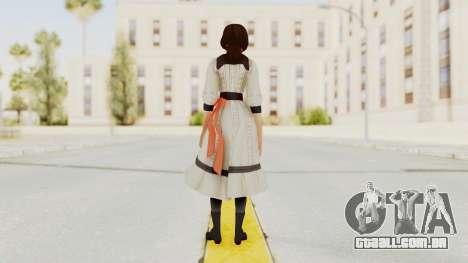 Bioshock Infinite Elizabeth Young para GTA San Andreas terceira tela