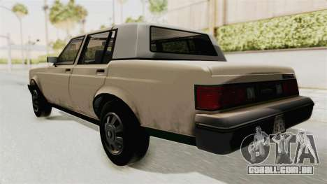 GTA 4.5 Greenwood v.0.9 para GTA San Andreas traseira esquerda vista