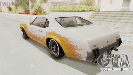 GTA 5 Declasse Sabre GT2 B para GTA San Andreas vista superior