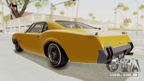 GTA 5 Declasse Sabre GT2 B IVF para GTA San Andreas esquerda vista