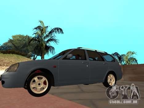 Lada Priora IVF para GTA San Andreas traseira esquerda vista