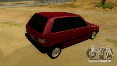 Fiat Uno S para GTA San Andreas vista direita