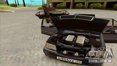 Mercedez-Benz W140 para GTA San Andreas traseira esquerda vista