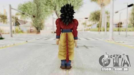 Dragon Ball Xenoverse Goku SSJ4 para GTA San Andreas terceira tela