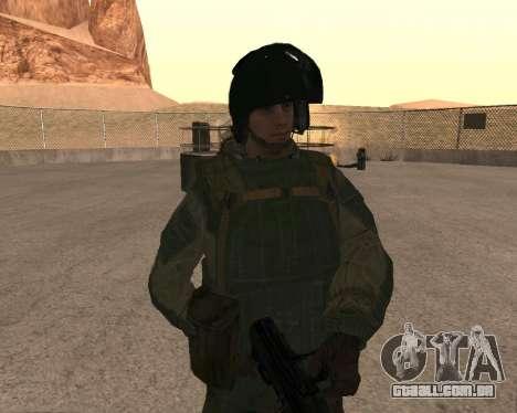 Forças especiais da Federação russa para GTA San Andreas quinto tela