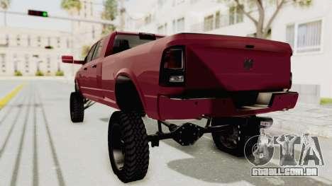 Dodge Ram Megacab Long Bed para GTA San Andreas esquerda vista