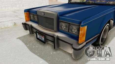 GTA 5 Dundreary Virgo Classic Custom v1 IVF para GTA San Andreas vista superior