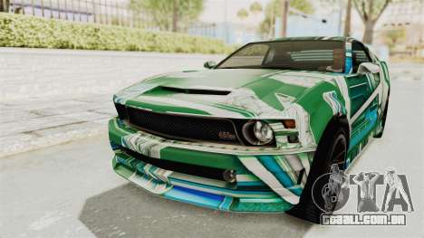 GTA 5 Vapid Dominator v2 SA Style para as rodas de GTA San Andreas
