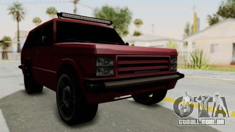 Huntley LR para GTA San Andreas vista direita