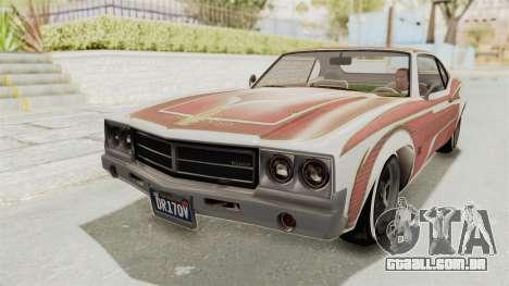 GTA 5 Declasse Sabre GT2 B para GTA San Andreas vista inferior