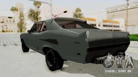 Chevrolet Nova 1969 StreetStyle para GTA San Andreas esquerda vista