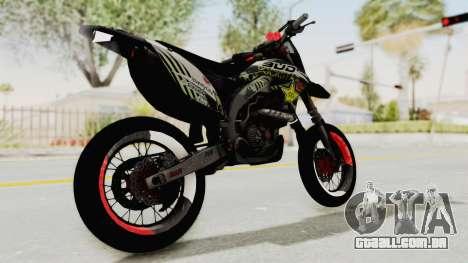 Kawasaki KLX 150S Supermoto para GTA San Andreas traseira esquerda vista