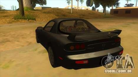 Mazda RX7 S Spirit R para GTA San Andreas traseira esquerda vista