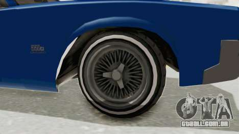 GTA 5 Declasse Sabre GT2 A para GTA San Andreas vista traseira