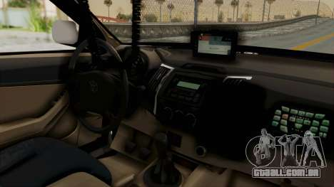 Toyota Fortuner JPJ White para GTA San Andreas vista traseira