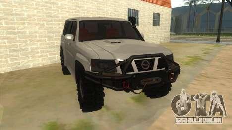 Nissan Patrol Y61 para GTA San Andreas vista traseira