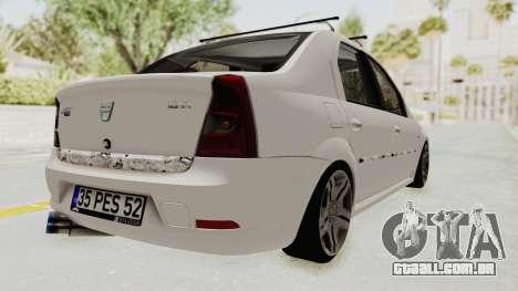 Dacia Logan 2013 para GTA San Andreas traseira esquerda vista
