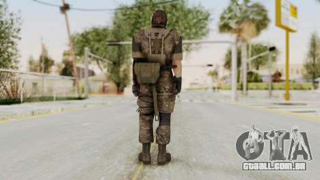 MGSV The Phantom Pain Venom Snake No Eyepatch v9 para GTA San Andreas terceira tela