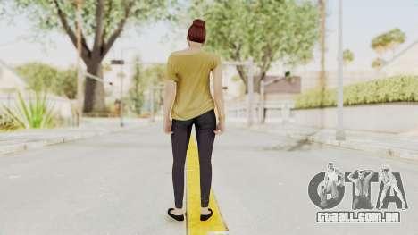GTA 5 Online Female Skin 1 para GTA San Andreas terceira tela